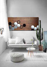 Buy a Hand Made Mod Honeycomb 48x20 - Wood Wall Art, Metal ...
