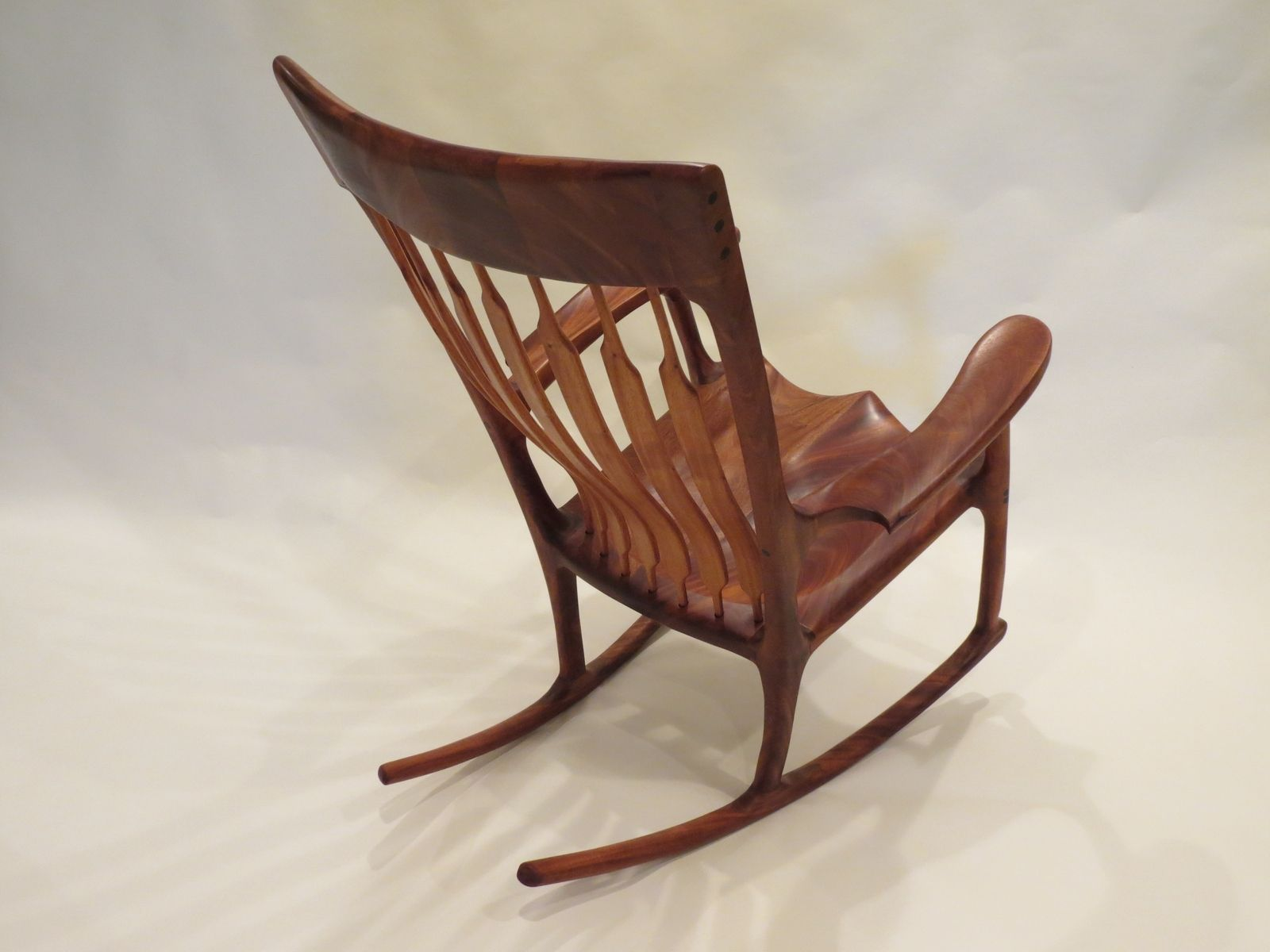 Custom Rocking Chairs Custom Mahogany Rocking Chair By Lost Creek Woodworking