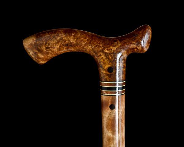 Custom Handmade Walking Cane In Almond Burl And - Year of Clean Water