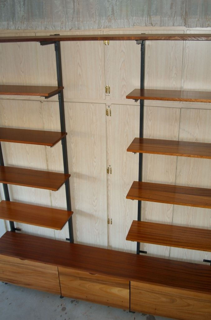 Hand Made Exotic Wood Amp Metal Shelf And Storage Unit By