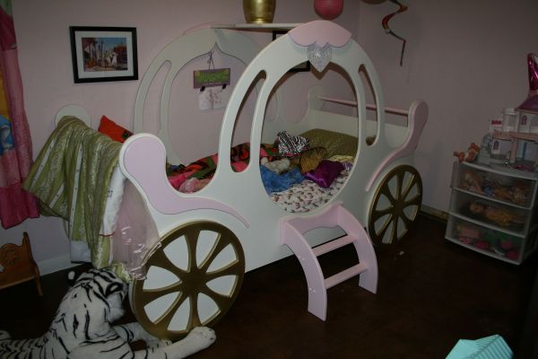 Hand Crafted Child' Princess Carriage Bed Stoll