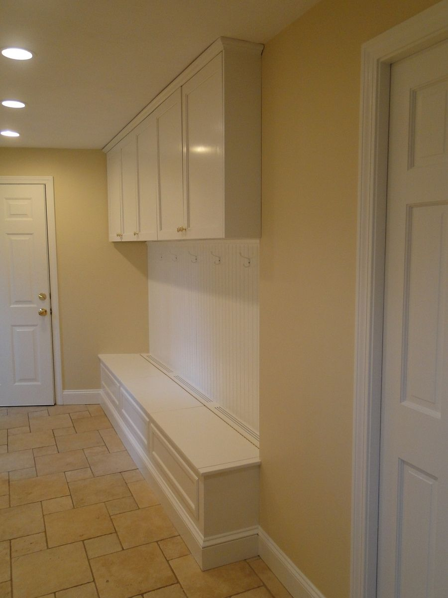 Custom Made HallMudroom Bench And Storage By Case By Case