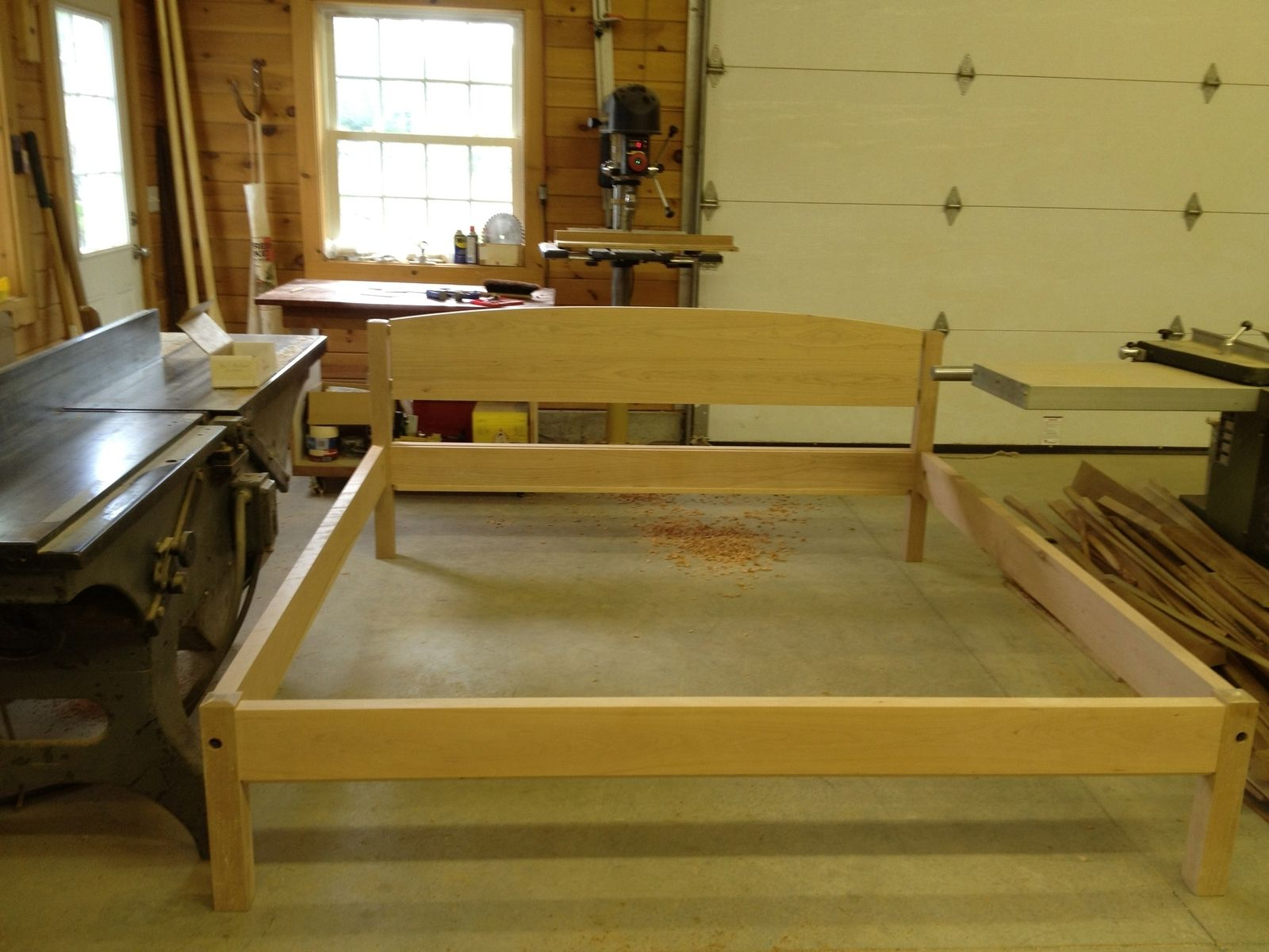 Custom King Cherry Platform Bed By Paul Mullen Fine