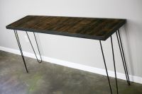 Buy a Hand Made Console/Sofa Table With Reclaimed Wood Mid ...