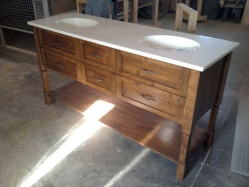Custom Knotty Alder Bath Vanity by Creative Woodworking