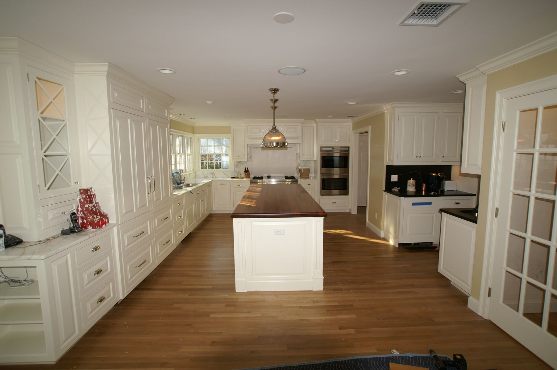 white lacquer kitchen cabinets blue hand crafted by rogers