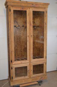Custom Made Reclaimed Barnwood Gun Display Cabinet by ...