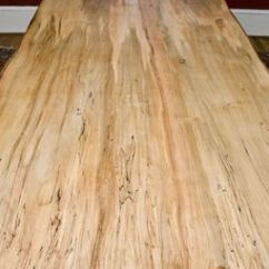 Antique Kitchen Island Cabinets Discount Custom Made Ambrosia Maple Dining Table, Live Edge By ...