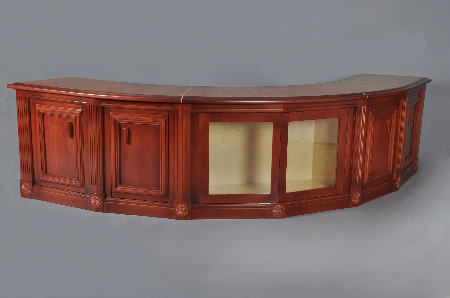 custom made sofa tables la z boy reclining manual curved cherry table by h andm woodworks