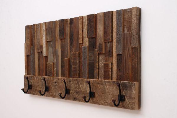 Custom Made Coat Rack Reclaimed Wood Art