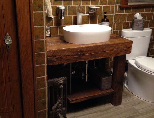 Hand Crafted Rustic Bath Vanity  Reclaimed Barnwood by Intelligent Design Woodwork  CustomMadecom