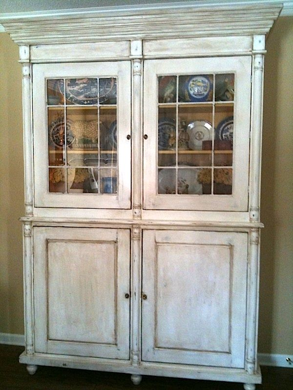 Custom Made Antique French China Cabinet by Hand Crafted Furniture  Fine Cabinetry