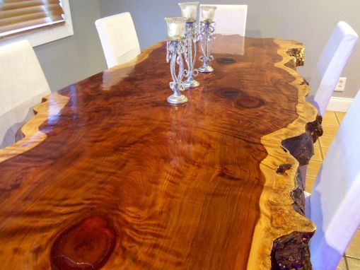 Hand Crafted Live Edge Redwood Kitchen Table By Ozma