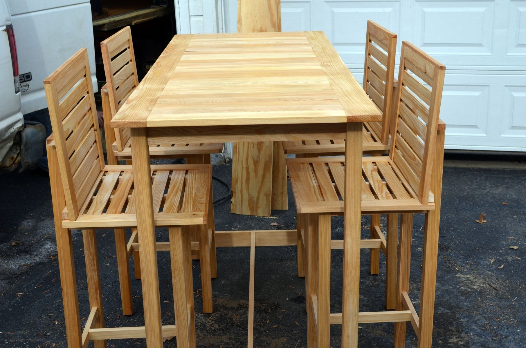 Bar Tables And Chairs Custom Made Bar Height Table And 4 Chairs Made For Outdoor