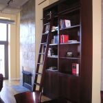 Handmade Custom Bookcase With Library Ladder By Best Custom