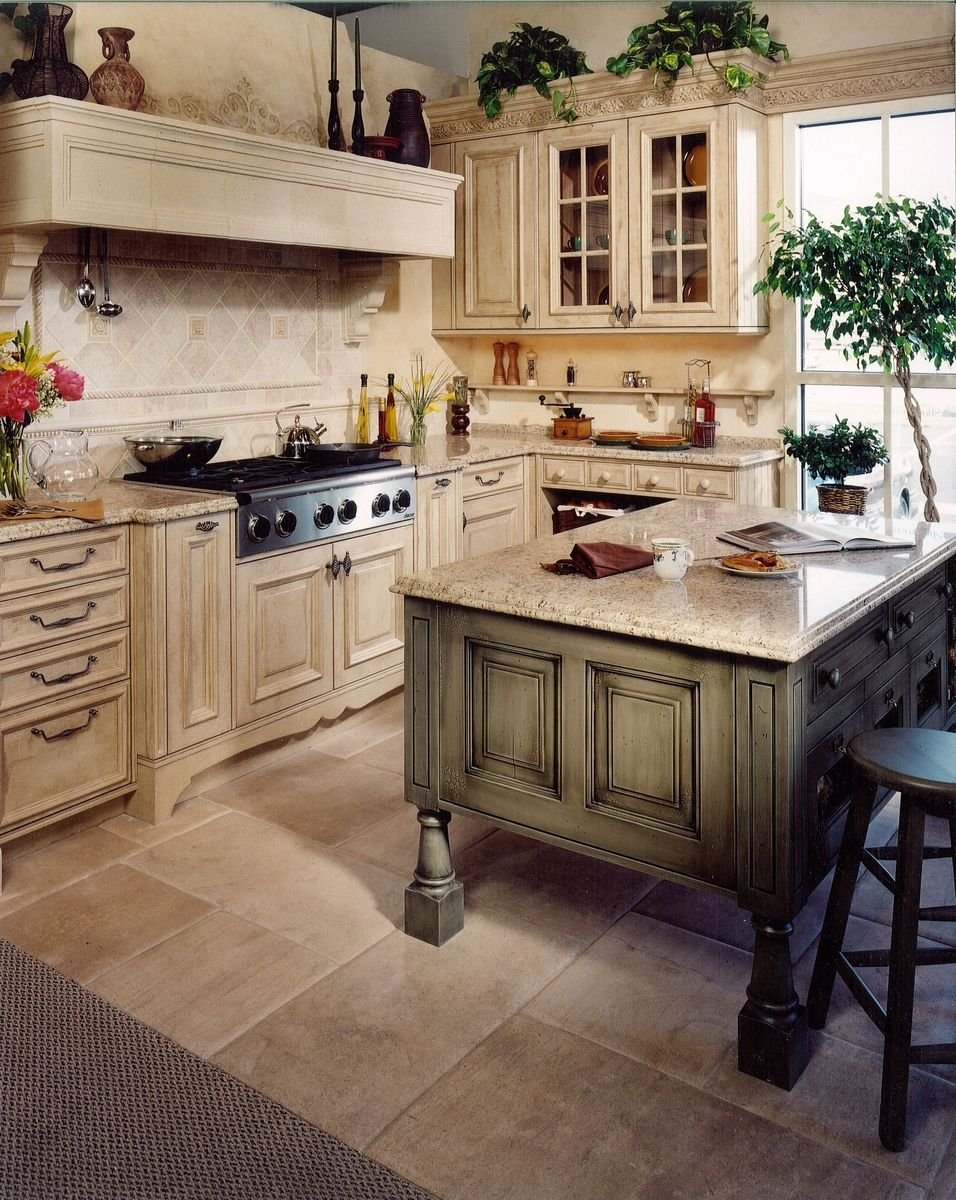 Hand Made Tuscany Kitchen Remodel by Cabinets & Design