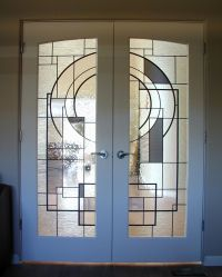 Hand Crafted Custom Stained Glass In French Doors by ...