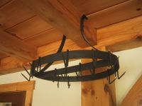 Handmade Forged Iron Pot Rack by Mystic Metallurgy
