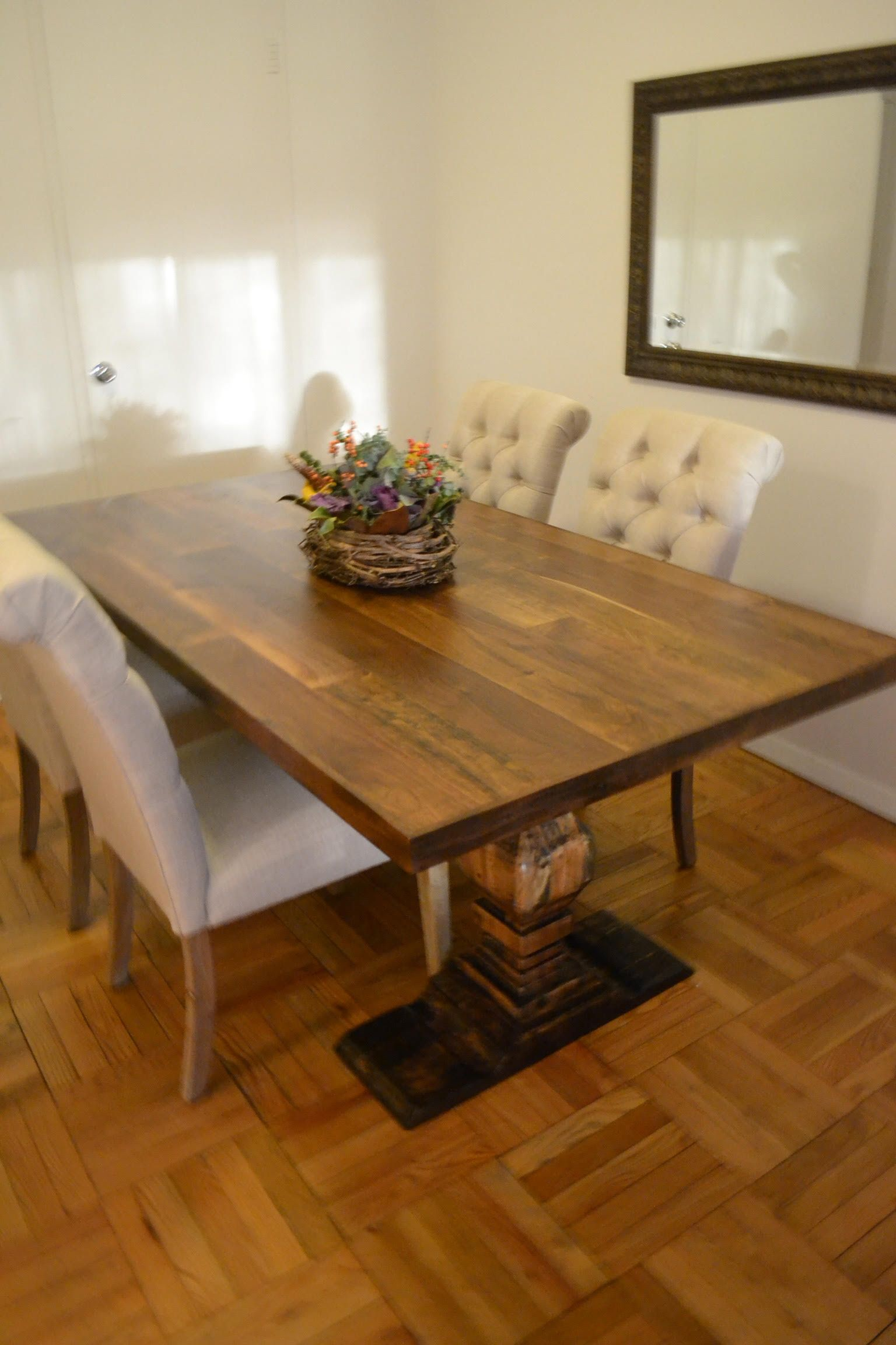 Hand Made 5 Foot Dining Room Table Mixed Species Wood