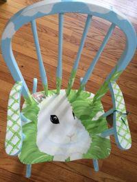 Handmade Bunny Rocking Chair by Charming Children's Chairs