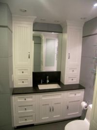 Hand Made Bathroom Vanity And Linen Cabinet by Edko ...