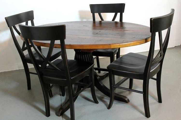 round black kitchen table diy cabinet refacing custom 50 farm style dining from old pine by ecustomfinishes reclaimed wood furniture custommade com