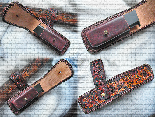 Buy A Custom Tooled Carved Leather Magazine Pouch Floral