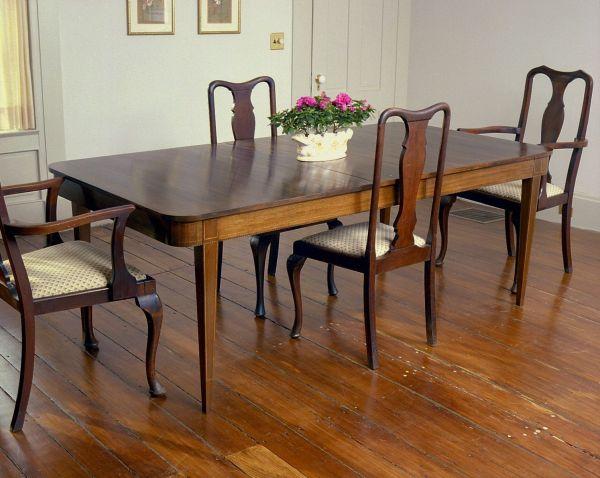 Hand Schwindt Hepplewhite Dining Table Holman
