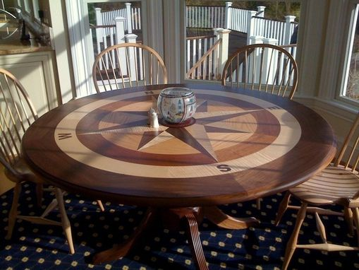 Hand Crafted Compass Rose Table by Clearlake Furniture  CustomMadecom
