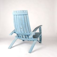 Distressed Adirondack Chairs Ikea Chair Covers Discontinued Buy A Handmade Wine Barrel Nantucket Blue