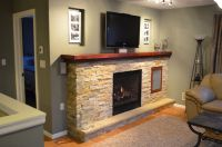 Handmade Fireplace Design With Media Center by Fabitecture ...
