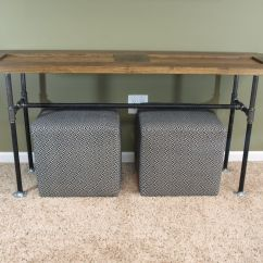 Custom Made Sofa Tables Navy Blue Reclining Hand Crafted Table From Reclaimed Door And