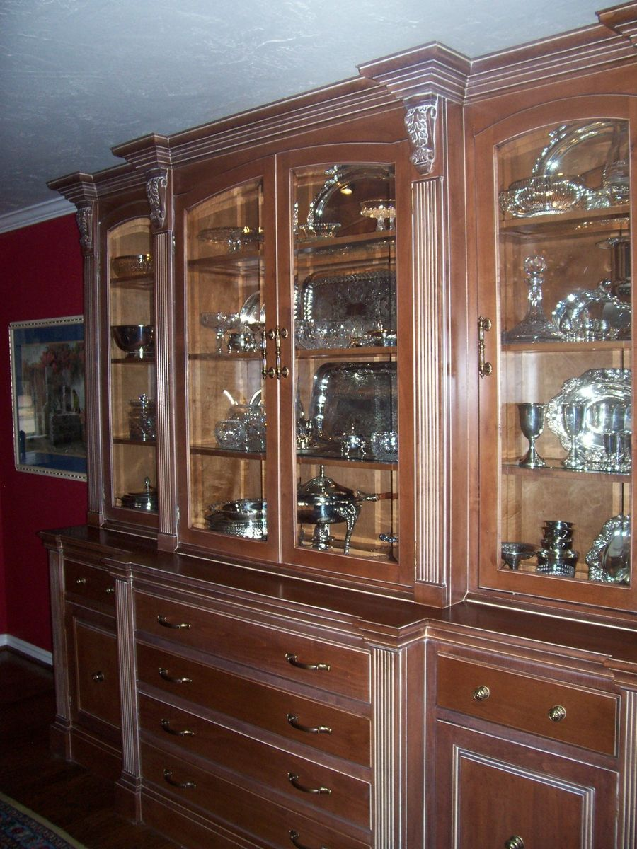 Hand Made China Hutch By Unique Wood Works