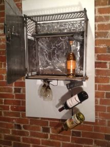 Hand & Whiskey Cabinet And Wine Rack