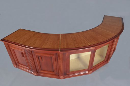 how to make a sofa table top beds hk custom curved cherry by h&m woodworks ...