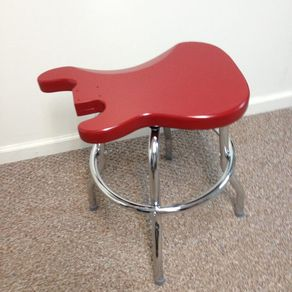 guitar shaped chair desk wood gifts for music lovers gift ideas musicians custommade com fender swivel stool