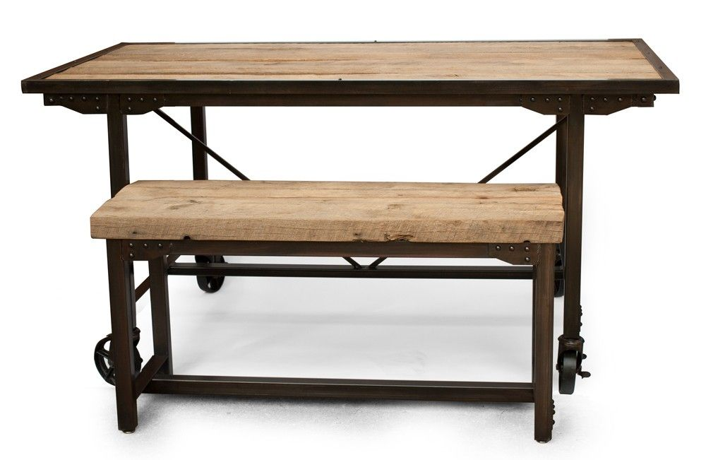 steel kitchen table ventilation fan hand made custom farmhouse reclaimed wood dining rustic bench