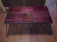 Handmade Reclaimed Purple Heart Coffee Table With Steel
