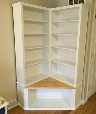 Custom Made Shabby Chic Corner Bookcase With Seat by The