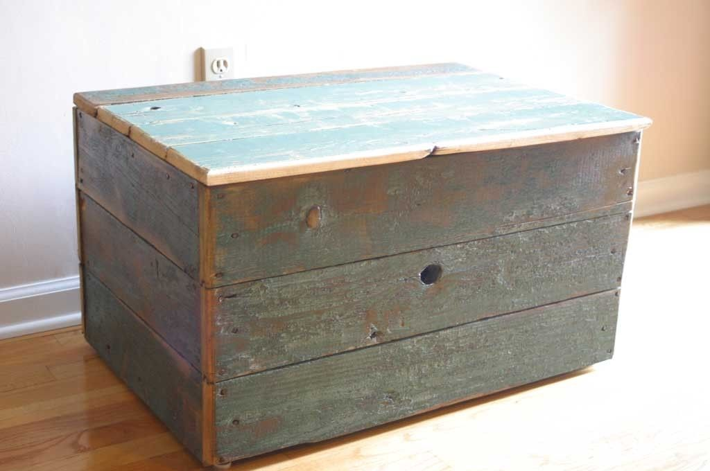 Hand Made Reclaimed Barn Wood Storage Chest By Tim Sway