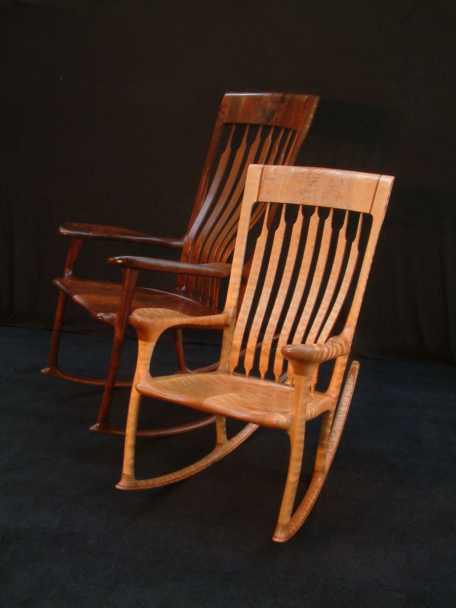 rocking chair fine woodworking shoprider power custom heirloom by chidwick school of made