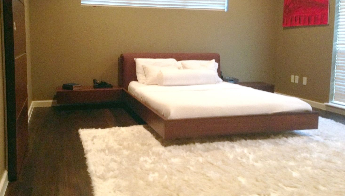 Custom Floating Queen Size Platform Bed By North Texas