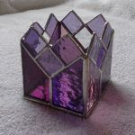 Hand Made Purple And Rose Stained Glass Candle Holder By Krysia Designs Custommade Com