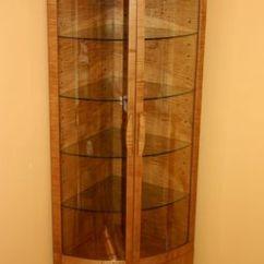 Acrylic Kitchen Cabinets Office Furniture Handmade Corner Curio Cabinet By Whim Wood Custom ...