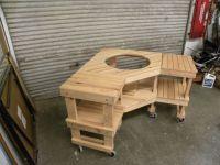 Custom Green Egg Corner Grill Table by Design47 ...