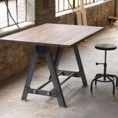 Industrial Kitchen Table Vinyl Flooring Hand Made A Frame Island Bar By