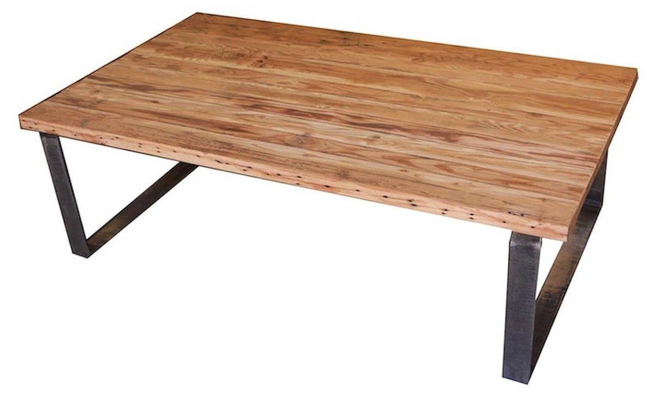 reclamed wood coffee table
