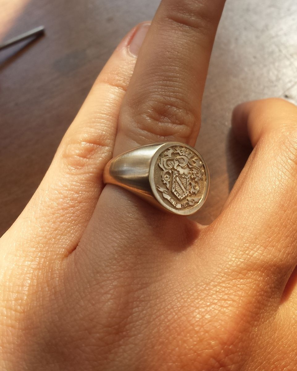 Hand Made Family Crest Ring By Prunier Vecchio Creations