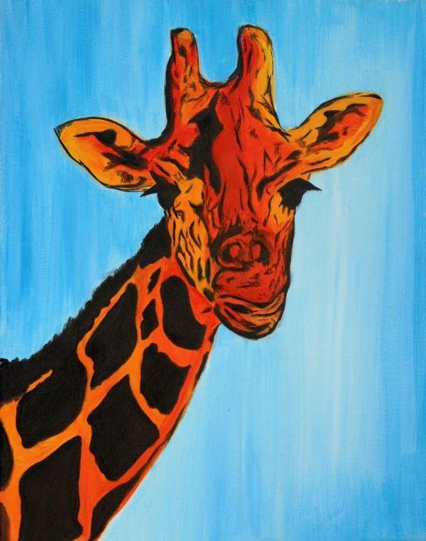 Hand Giraffe- Pop Art - Modern Abstract African
