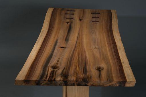 Custom Rainbow Poplar Trestle Table By Walnut Wood Works